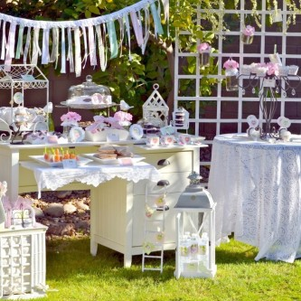 Tafel bruiloftgasten
