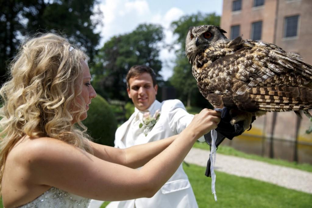 Bruid maakt de ringen los