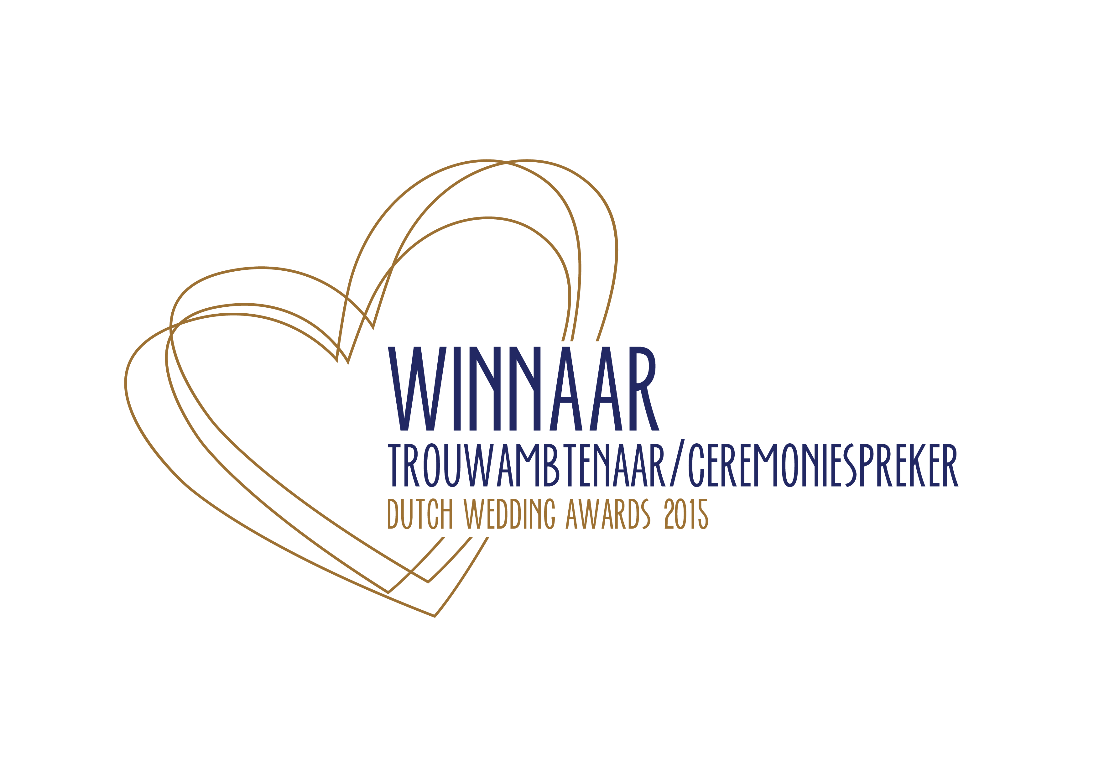 Winnaar Dutch Wedding Award 2015 categorie Trouwambtenaar/Ceremoniespreker