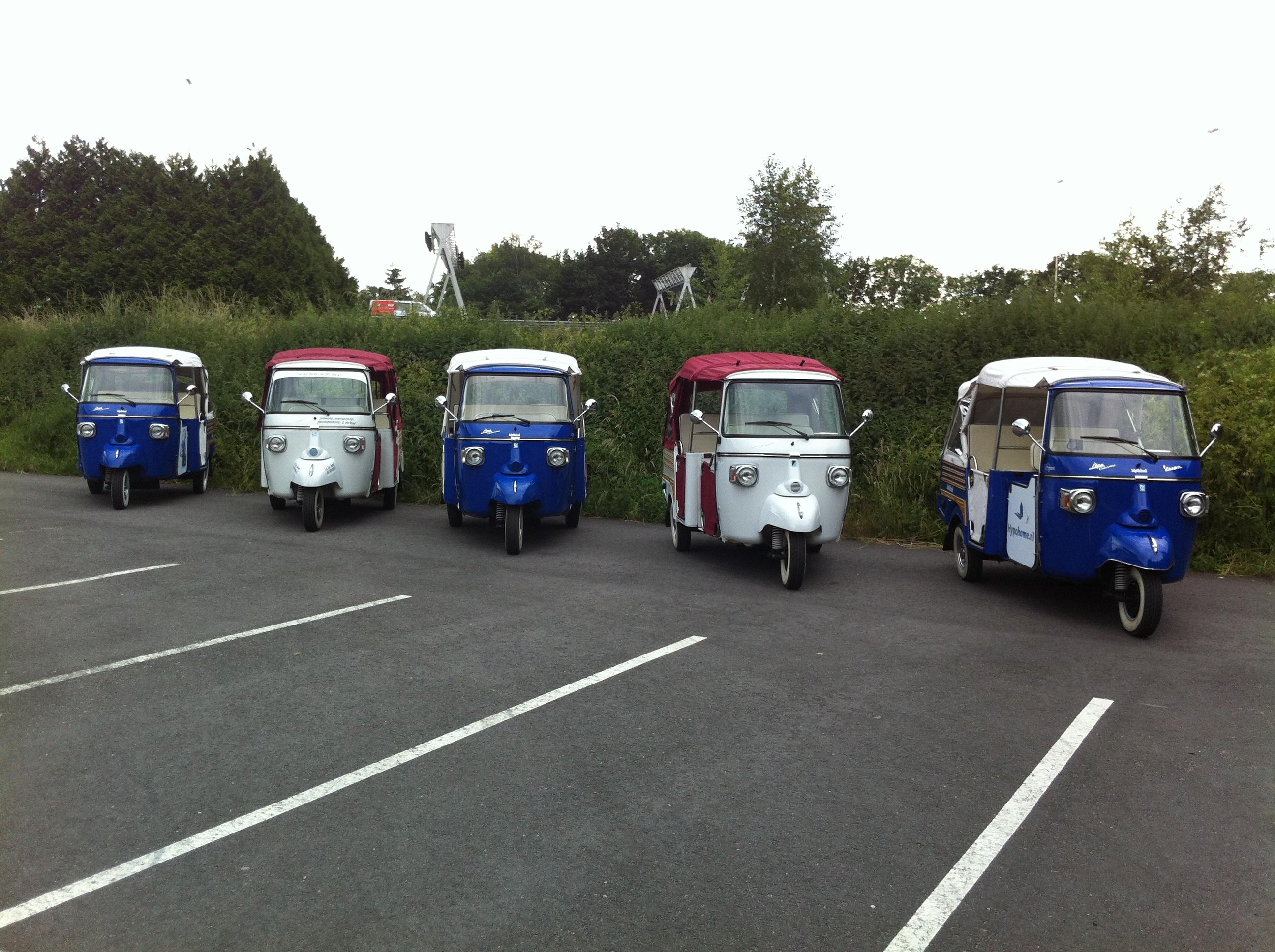Tuktuks van mytuk.nl als trouwvervoer