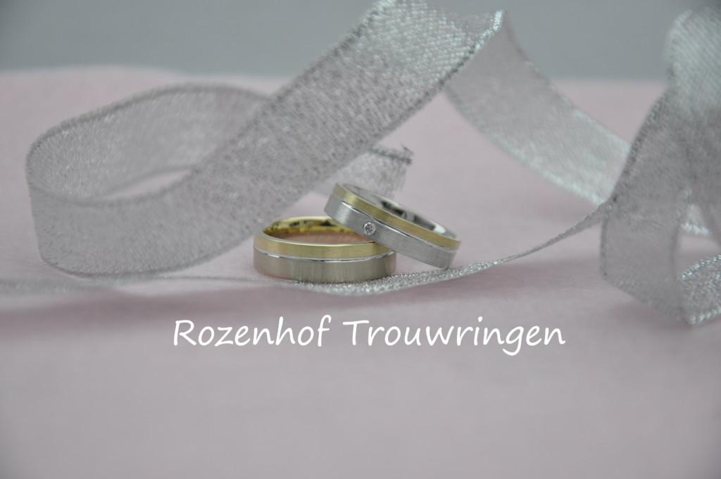 Eenvoudige bicolor trouwringen