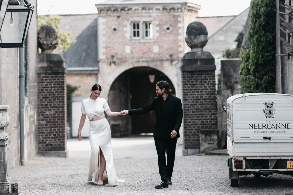 Zwart trouwpak Michael & Giso