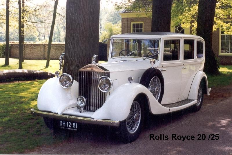 Rolls Royce 20/25 uit 1935