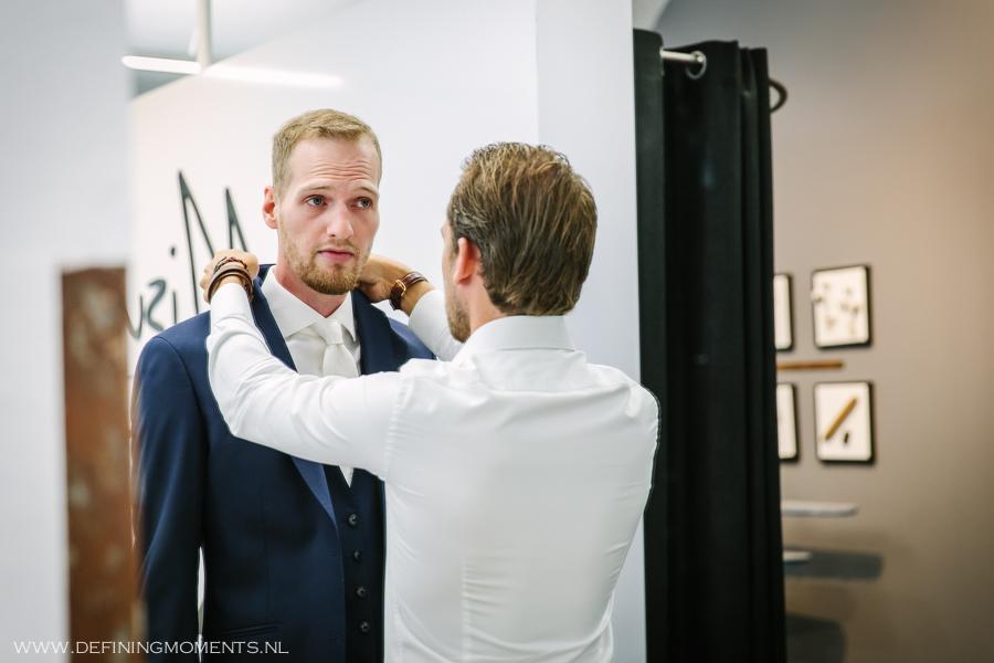 Tailoring service op de dag dat je gaat trouwen!