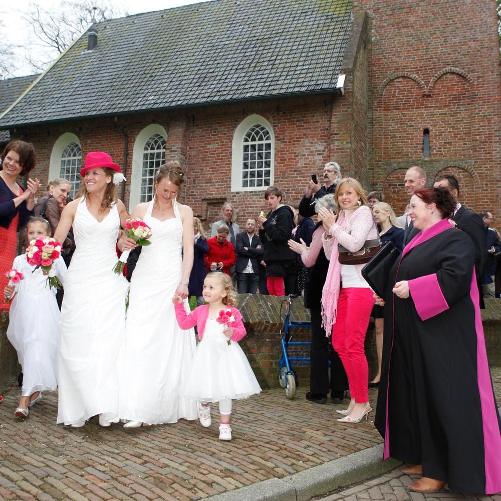 rose bruiloft
