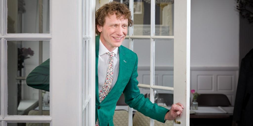 Bart Sanders Maatpakken TROUWPAK groen linnen