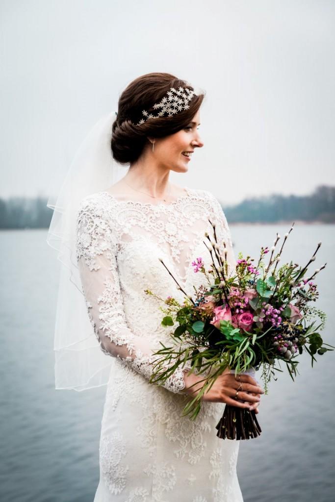 foto bruidsvisagie en bruidskapsel; Sarah Duif
