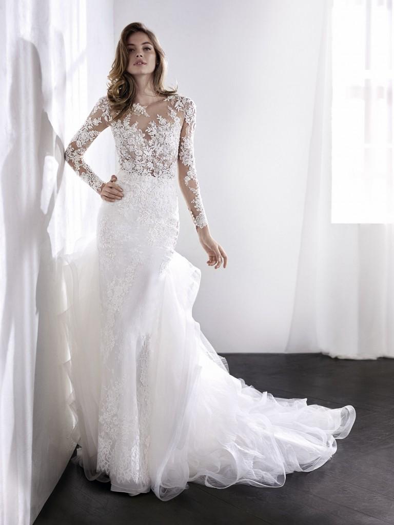 New Sexy trouwjurken met lange mouwen - Top Trouwbedrijven #JK77