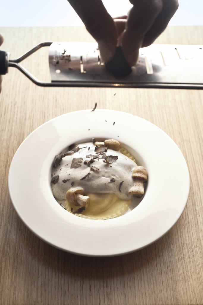 Pasta met truffel, één van onze bestsellers..