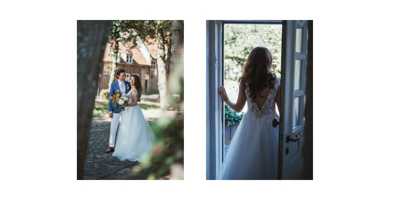 Bruid open deur