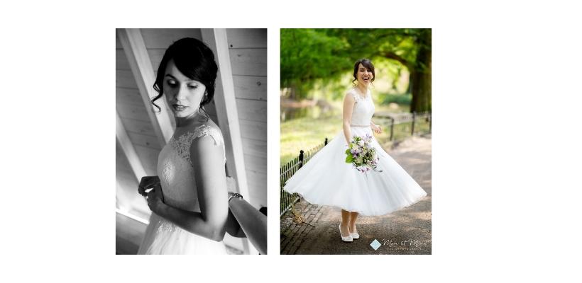 Bruid korte jurk