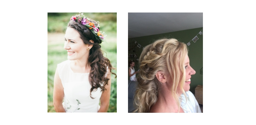 Bruiden bloemenband