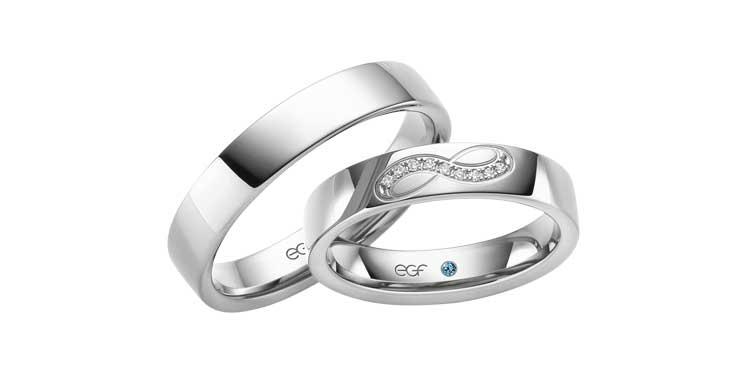Trouwringen in het witgoud met infinity telen, al onze ringen zijn in meerdere kleuren goud en legeringen leverbaar!