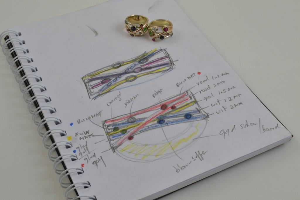 Zelf ontworpen ringen