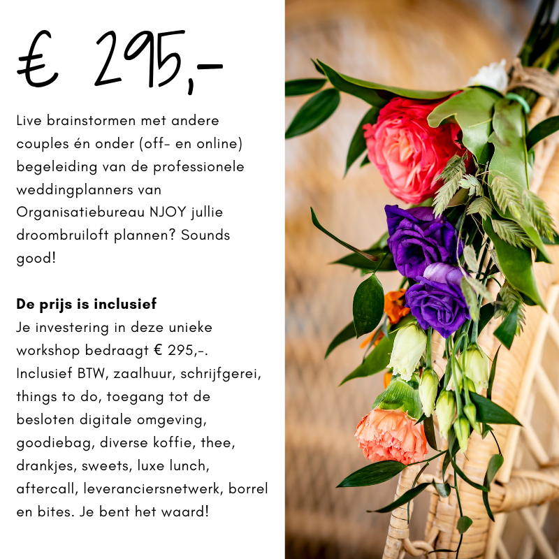 Workshop Weddingplannen voor bruidsparen