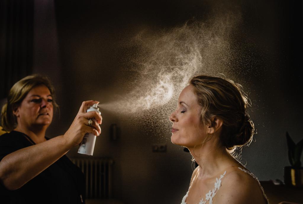 Weddingpreps…. Ook zo'n mooie haarspray foto?