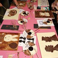 vrijgezellen workshop schilderen met chocolade