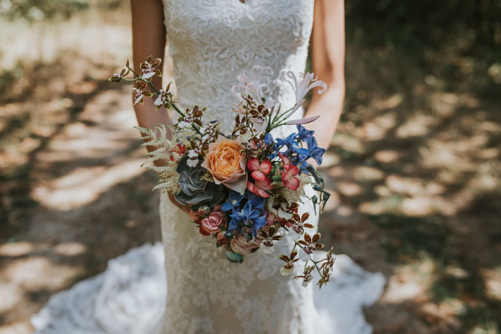 Bruidsboeket met vetplant