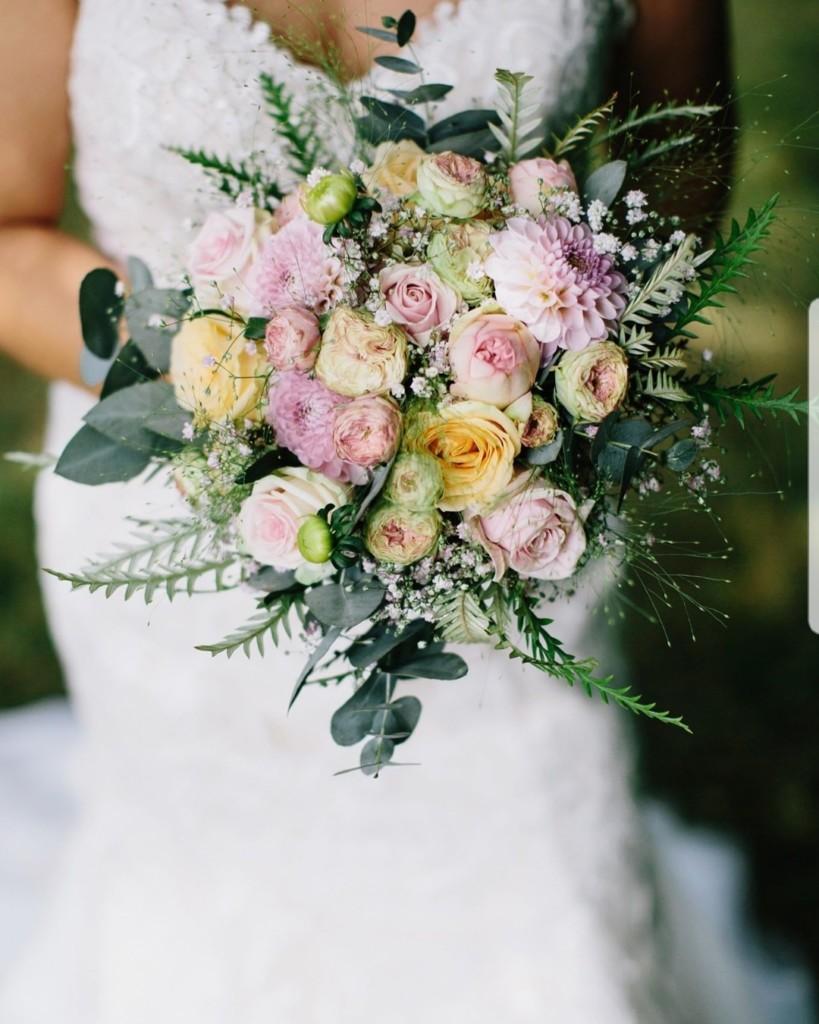 Bruidsboeket pastel