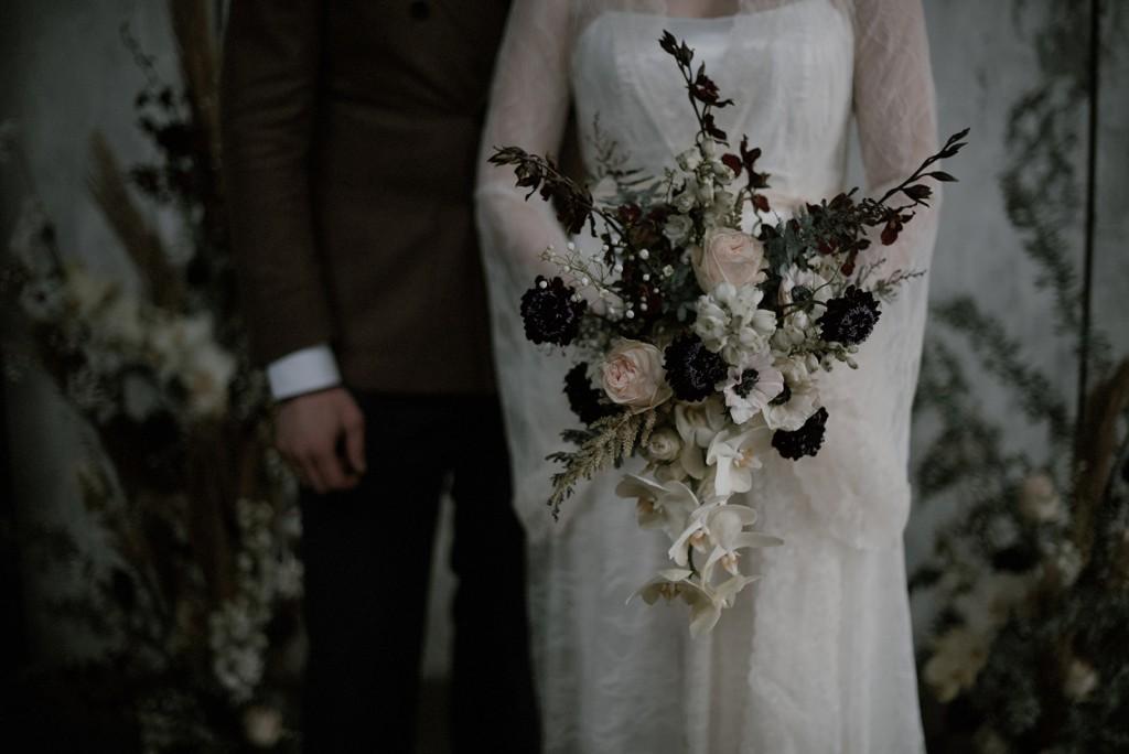 pastel bruidsboeket