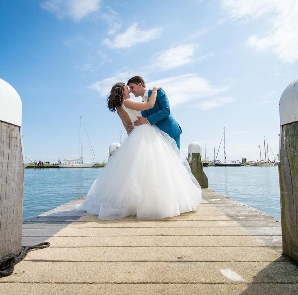 trouwen aan de haven