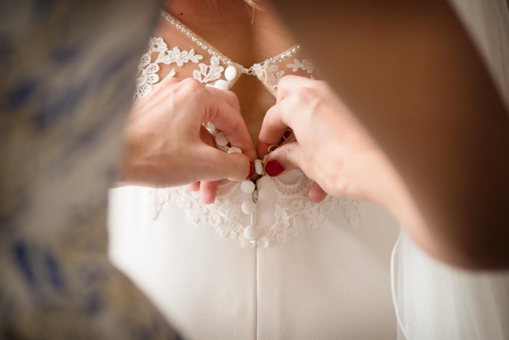 aankleding bruid
