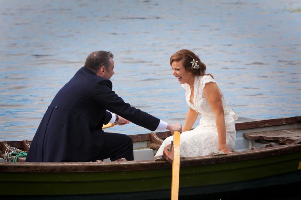 trouwen in een roeiboot