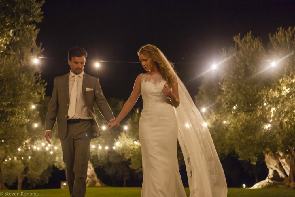 trouwfeest in de avond