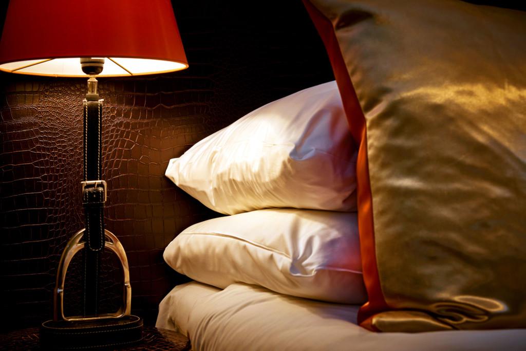 Huize Koningsbosch Hermes suite Detail lamp en kussens