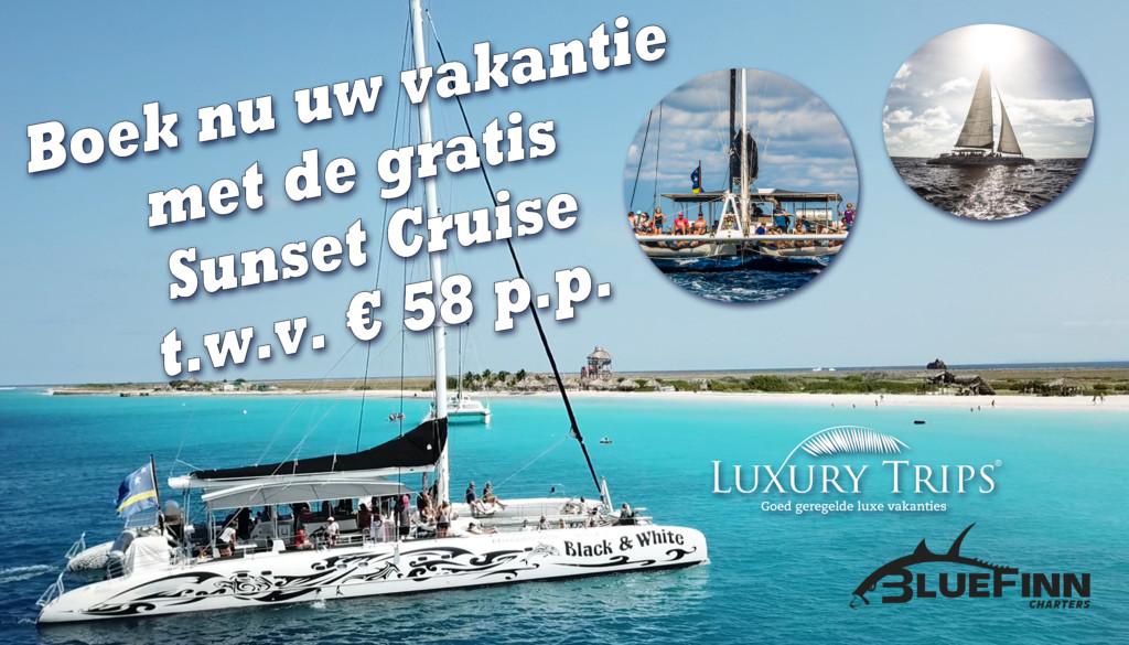 Boek nu inclusief een gratis Sunset cruise