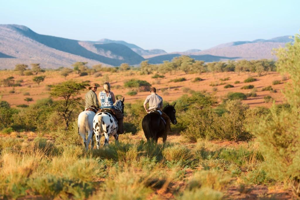 Tswalu paardrijden