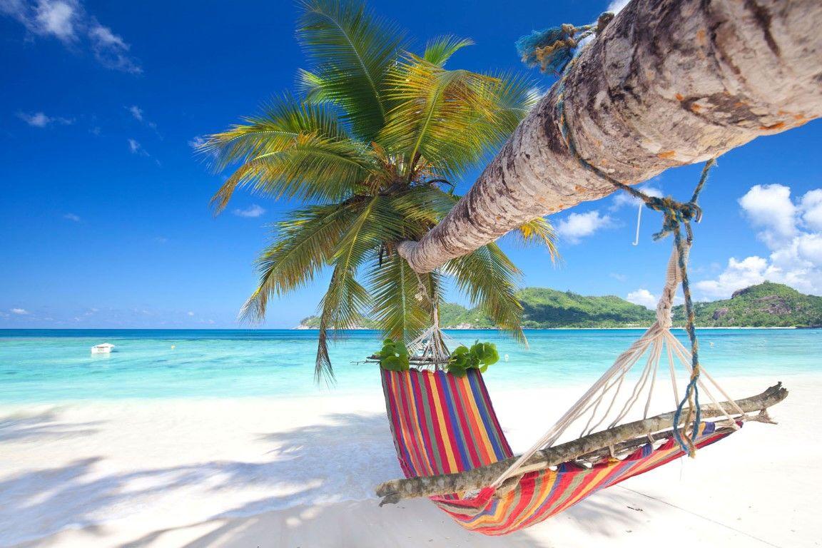 Wit strand hangmat Seychellen Afrikaya Tours