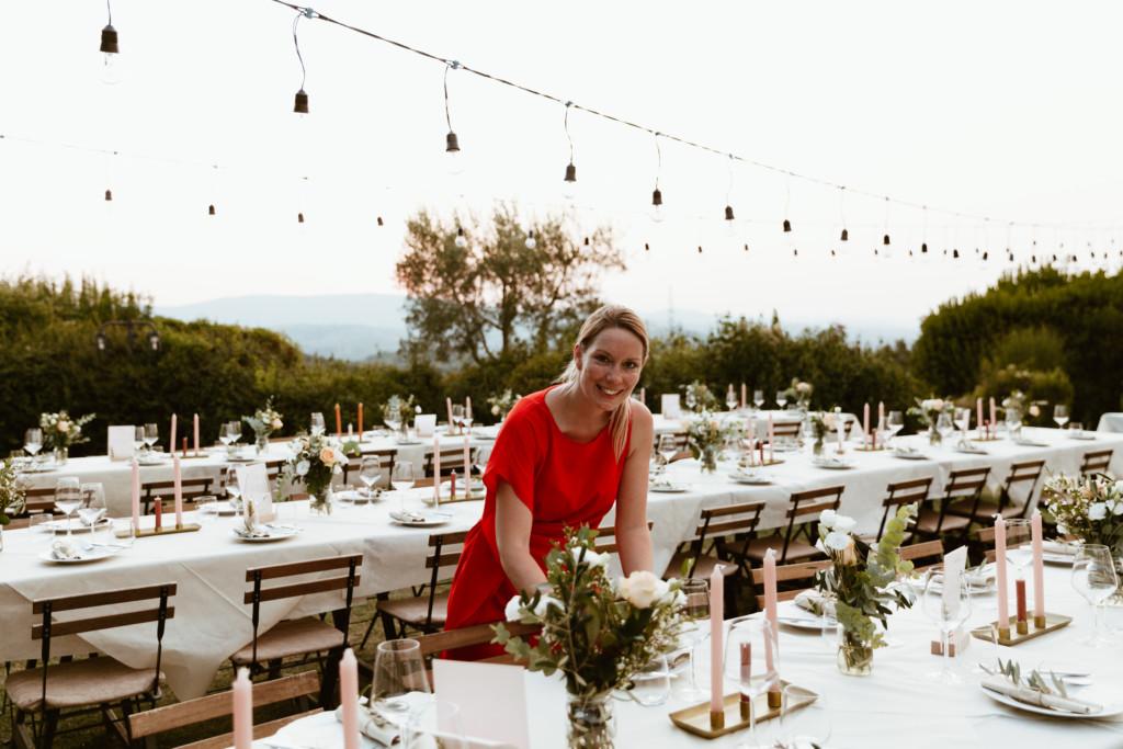 Styling dinertafels bruiloft