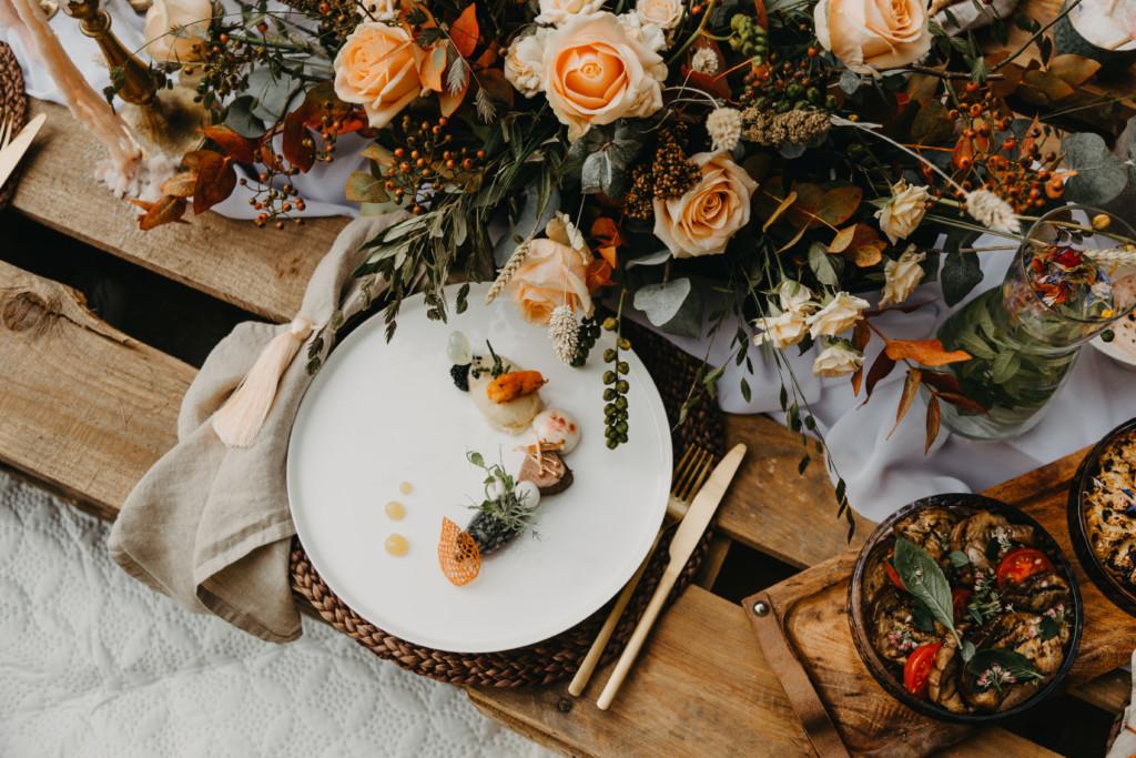 Bruiloft diner styling