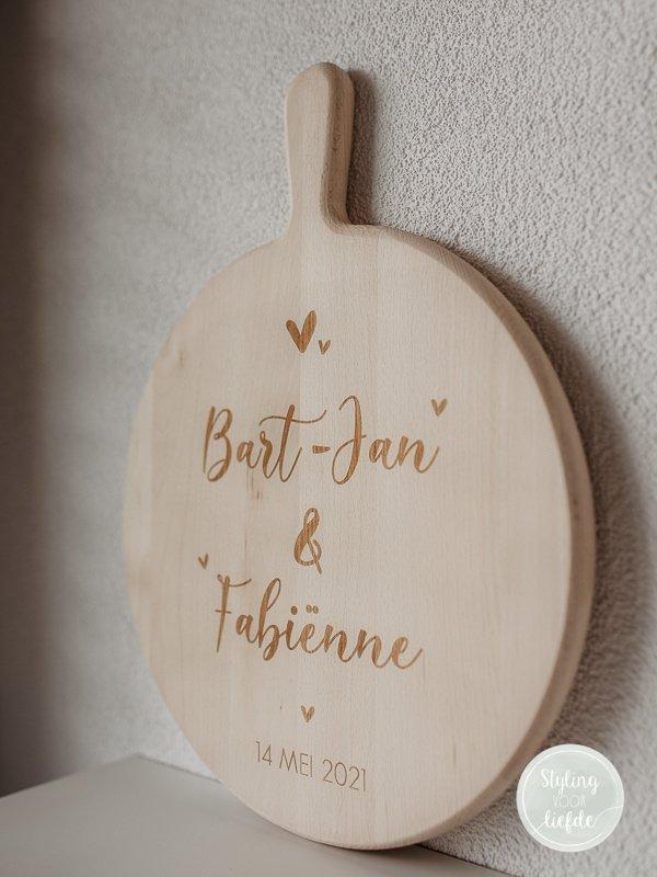 Borrelplank bruiloft