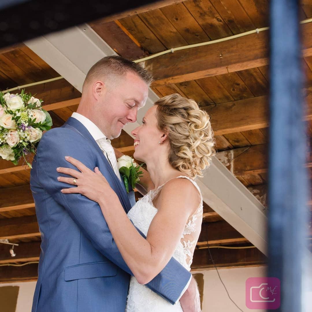 Opgestoken bruidskapsel
